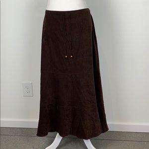 GNW Suede Cloth Midi Skirt